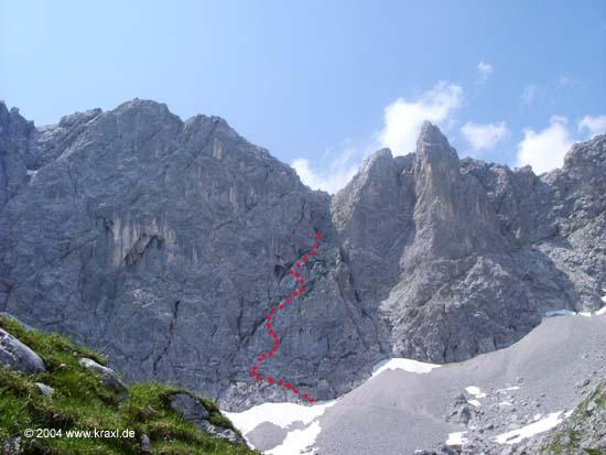 Klettersteig Lamsenspitze : Klettersteig auf die lamsenspitze m
