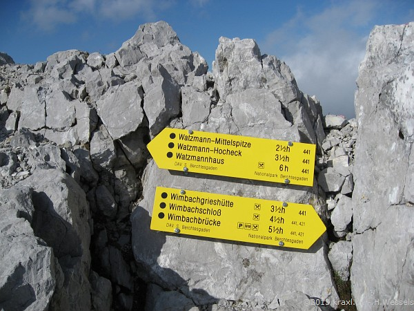 Klettersteigset Watzmann : Watzmannüberschreitung lange bergtour mit luftiger
