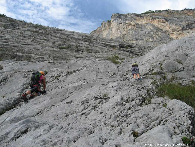 Klettersteig Che Guevara : Klettersteig che guevara auf den monte casale
