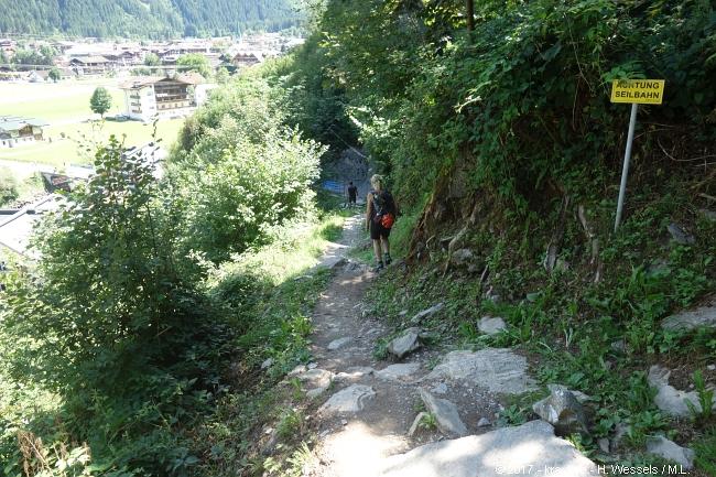 Klettersteig Huterlaner : Huterlaner klettersteig mayrhofen zillertal