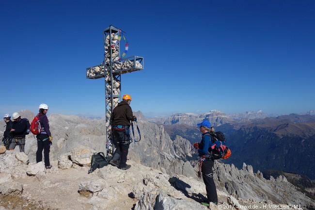 Klettersteig Rotwand : Zeigen sie beim aufstieg croda rossa oder sextener rotwand im
