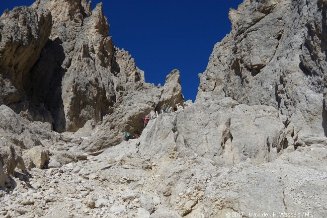 Klettersteig Rosengarten : Masaré und rotwand klettersteig im rosengarten