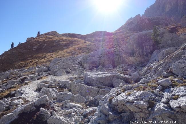 Klettersteig Rosengarten : Bergtour über den santnerpass klettersteig im rosengarten