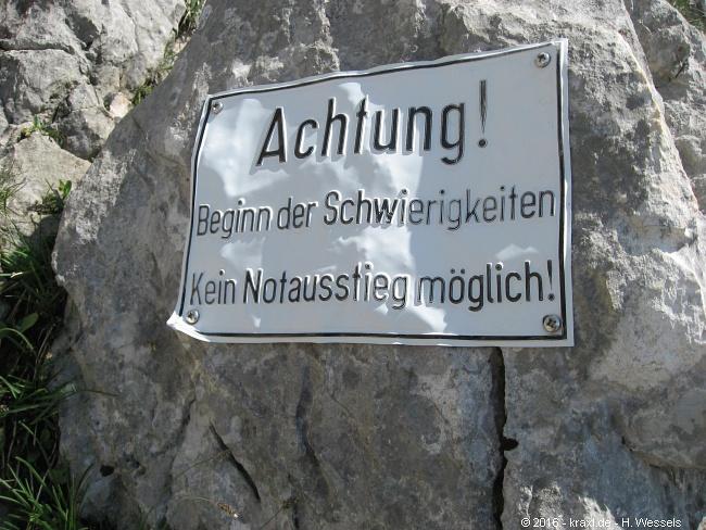 Klettersteig Hochthron : Berchtesgadener hochthron hochthronklettersteig