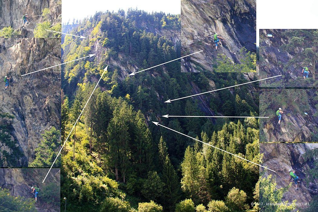 Klettersteig Zimmereben : Über den pfeilspitzwand klettersteig zum gasthaus zimmererben